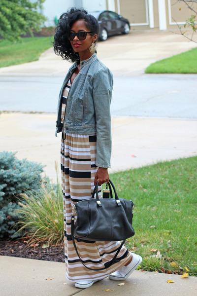 5 on clearance Walmart dress - denim moto Old Navy jacket - Nine West bag