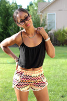 Bebe shirt - ebay shorts - Target sandals