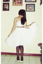 beige michelle cla shoes - white my moms skirt dress