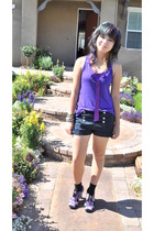 Top Shop top - Charlotte Russe shorts - forever 21 shoes - Target socks