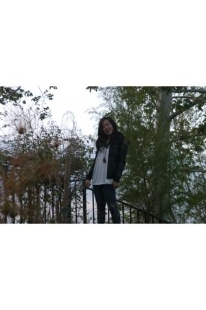 Silence  Noise jacket - American Eagle t-shirt - Bullhead jeans