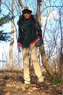 Black-mango-jacket-carrot-orange-bikbok-sweater-green-the-scotch-house-scarf