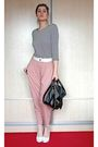 Pink-just-female-pants-black-hanna-darsa-blouse-white-koton-jacket-black-q