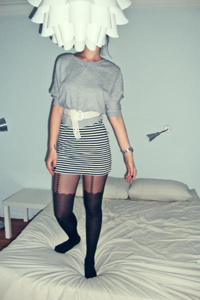 black Topshop tights
