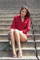silk Equipment blouse - jeans h&m divided shorts - Mango sandals