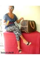 Guess wallet - Louis Vuitton bag - Gucci sunglasses