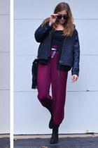 Forever21 jacket - vagabond shoes - Ebay bag - vintage pants