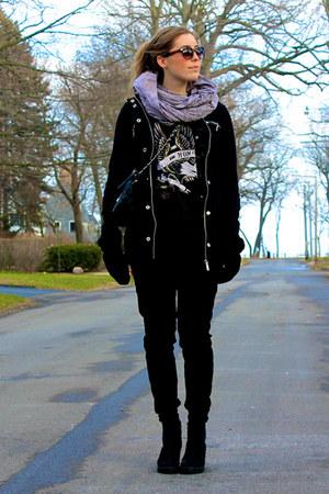 Macys jacket - vagabond shoes - thrifted pants - Zara t-shirt