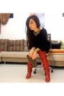Diesel-boots-zara-dress