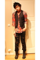 Filippa K shirt - H&M vest - acne jeans - Rizzo shoes