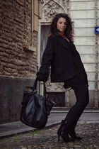 n-1 couture jacket - Ebarrito bag - Ebarrito heels - n-1 couture top