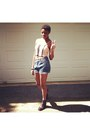Dark-gray-boots-light-pink-corset-shirt-sky-blue-high-waisted-shorts