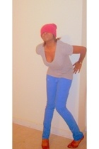 thrifted hat - Target shirt - rue21 jeans - wal-mart shoes