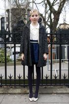 vintage from Grandma top - Missoni coat - Accesorize tights