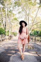 light pink lace Stella Dallas dress