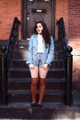 Light-blue-denim-in-god-we-trust-jacket-white-urban-outfitters-shirt