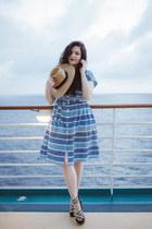 sky blue striped Boden dress