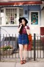Crimson-striped-urban-outfitters-t-shirt-navy-denim-topshop-skirt