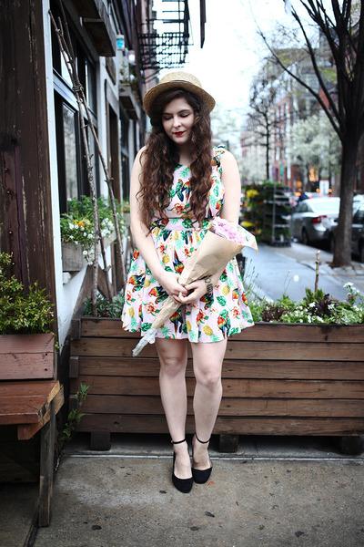 bubble gum tropical print luluscom dress