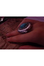 Turquoise-blue-threadsence-ring