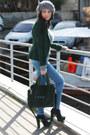 Zara-jeans-navy-tata-shoes-heather-gray-luana-ferracuti-hat