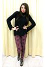 Gold-zara-shoes-black-zara-sweater-brick-red-zara-pants