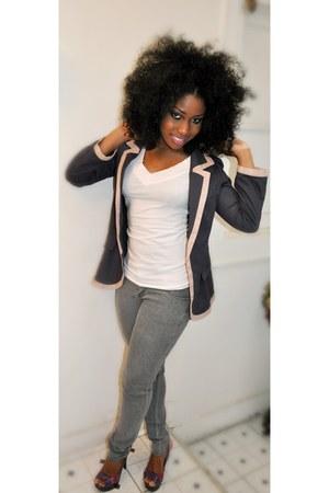Forever 21 jeans - JCP blazer - Forever 21 shirt - Charlotte Russe sandals