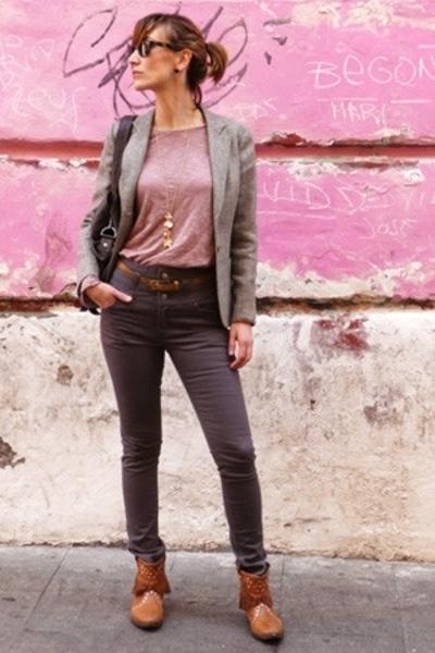 Zara shirt - MNG belt - HyM jeans - Topshop