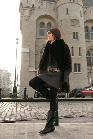 Pepe Jeans dress - Episode belt - Sessum hat - Zara boots