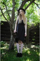 black creepers Underground shoes - black lindex dress