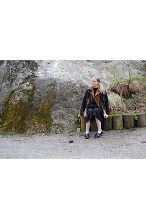 black leather Saints & Mortals jacket - black Lumi bag