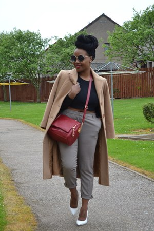 camel M&S coat - tan coat