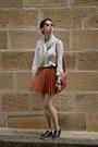 White-white-zara-top-black-brogues-asos-shoes