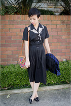 black 50s vintage dress - white lace collar ShopWithRomi accessories