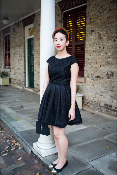 Black Leather Flats Seychelles Shoes Little Black Dress By