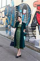 dark green Evelyn Wood dress