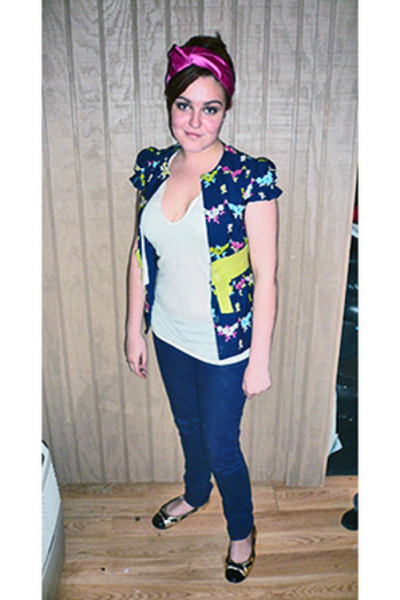 Prada accessories - Nanette Lepore top - Express jeans - Marc by Marc Jacobs sho