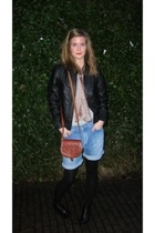 Bik Bok shorts - H&M scarf - Bik Bok jacket - Private accessories - Din Sko shoe