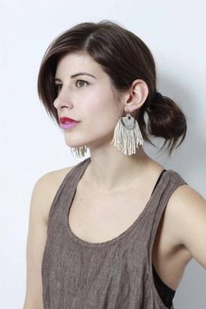 tan norwegian wood earrings