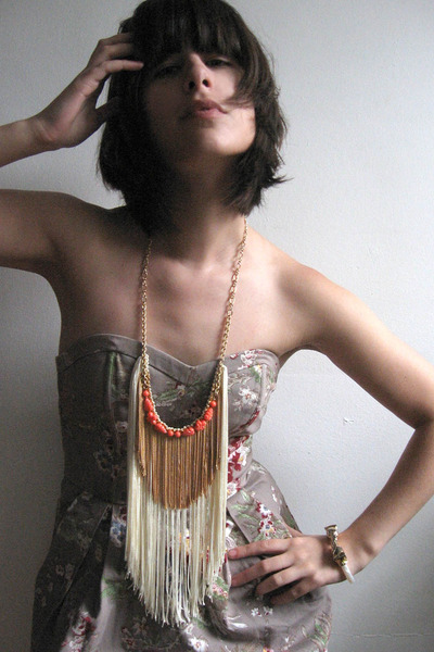 H&M dress - norwegian wood necklace