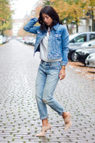 light blue Levis jacket - light blue Levis jeans