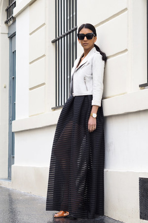 black Maje skirt - white Maje jacket - white Maje top