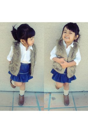 Zara boots - Target shirt - Childrenplace vest - Gap skirt