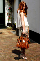 tawny satchel Mulberry bag - light orange round asos sunglasses