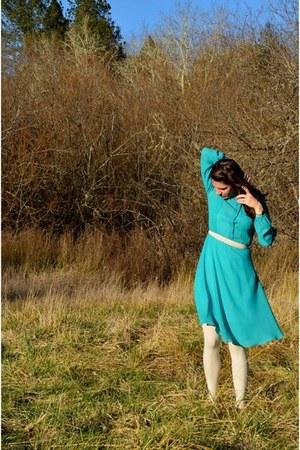 turquoise blue turquoise vintage dress