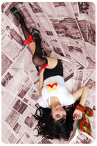 white monic top - red distincUt necklace - black juzzie shorts - red my dawn sto