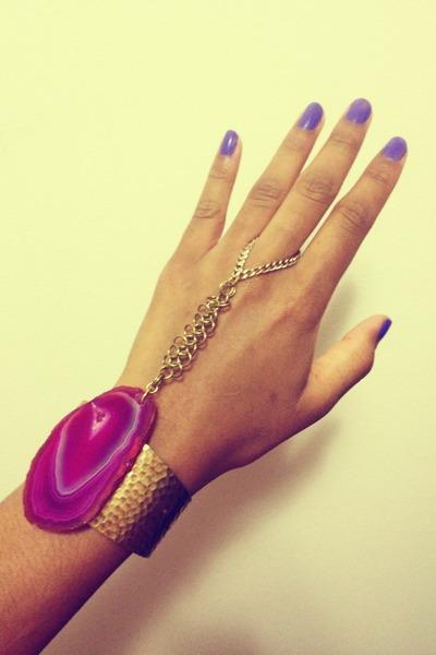 agate brass Nu Bambu bracelet