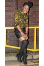 Black-military-carvela-boots-olive-green-batik-agnes-and-lola-shirt
