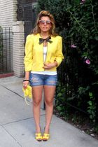 blazer - shoes - shorts - top
