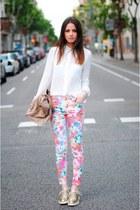 floral print pants - shirt